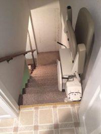 Merrett Stairlifts - Basement stairlift folded